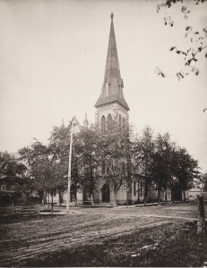 View of church in 1893