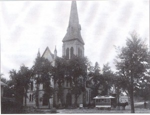 View of church in 1888