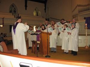 Chancel Choir Singing During Worship