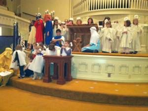 Sunday School Christmas group