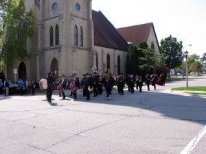1st Brigade Band Marching